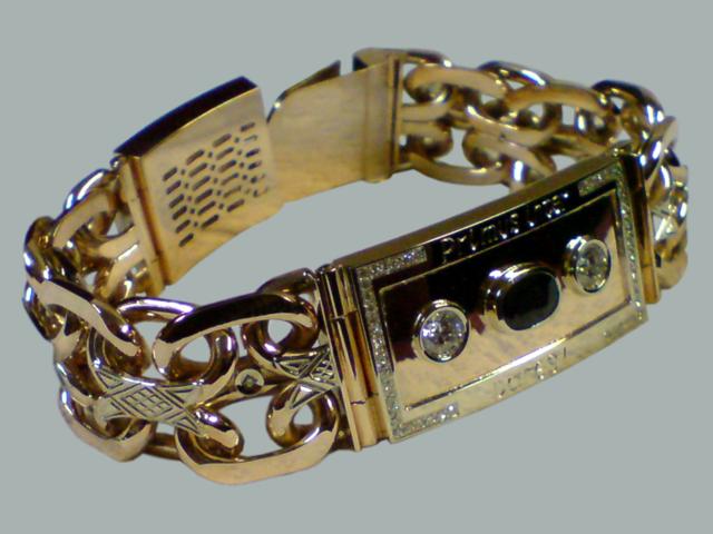 толстые золотые браслеты фото